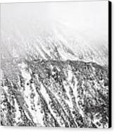 Snowy Ridge Abstract Canvas Print by Aaron Spong
