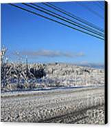 Snowy Roads Canvas Print by Michael Mooney
