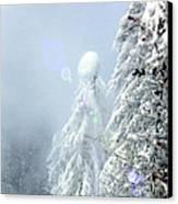 Snowy Trees Canvas Print by Kae Cheatham