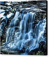 Snowy Waterfall Canvas Print by Jahred Allen