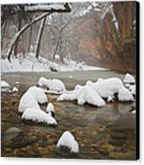 Snowy West Fork Canvas Print by Peter Coskun