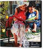 Snuggled Canvas Print by Maureen Dean