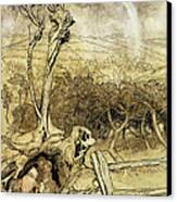 So Nobody Can Quite Explain Exactly Where The Rainbows End Canvas Print by Arthur Rackham