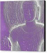 Soft Glow Purple Buddha Canvas Print by Sally Rockefeller