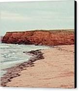 Soft Rain On The Beach Canvas Print by Edward Fielding