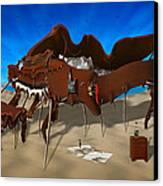 Softe Grand Piano Se Canvas Print by Mike McGlothlen