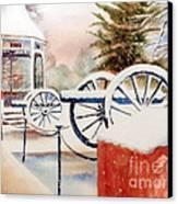Softly Christmas Snow Canvas Print by Kip DeVore
