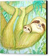 Soggy Mossy Sloth Canvas Print