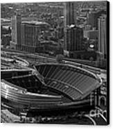 Soldier Field Chicago Sports 05 Black And White Canvas Print by Thomas Woolworth