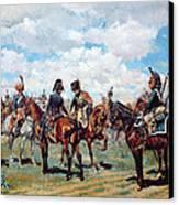 Soldiers On Horseback Canvas Print