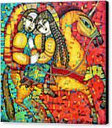 Sonata For Two And Unicorn Canvas Print
