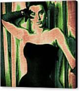 Sophia Loren - Green Pop Art Canvas Print by Absinthe Art By Michelle LeAnn Scott