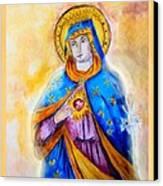 Sorrowful Immaculate Heart Canvas Print by Myrna Migala