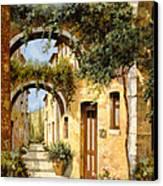 Sotto Gli Archi Canvas Print by Guido Borelli