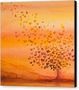 Soul Freedom Watercolor Painting Canvas Print