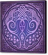 Soul Mates - Purple Canvas Print