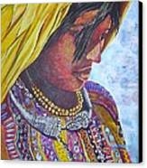 South American Woman Canvas Print by Linda Vaughon