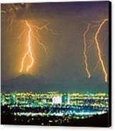 South Mountain Lightning Strike Phoenix Az Canvas Print
