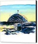 South Pole Dome Antarctica Canvas Print by Carolyn Doe