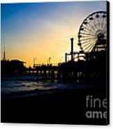 Southern California Santa Monica Pier Sunset Canvas Print