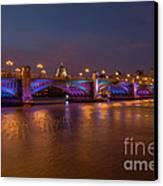 Southwark Bridge Canvas Print by Pete Reynolds