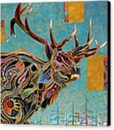 Southwestern Elk Canvas Print by Bob Coonts