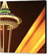 Space Needle Monorail  Canvas Print by Donald Torgerson
