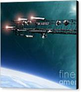 Space Station Communications Antenna Canvas Print by Antony McAulay