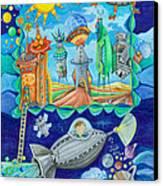 Space Station  Canvas Print by Sonja Mengkowski