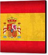 Spain Flag Vintage Distressed Finish Canvas Print