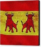 Spanish Bulls Canvas Print by Jared Johnson