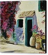 Spanish Courtyard Canvas Print by Stefon Marc Brown