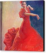 Spanish Flame Canvas Print by Gwen Carroll