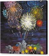 Sparklers Canvas Print by Cynthia Ring