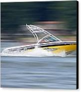 Speed Boat Canvas Print by Thomas Fouch