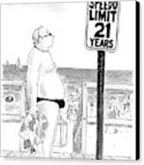 Speedo Limit: 21 Years Canvas Print