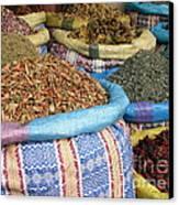 Spices At The Souk Canvas Print by Sophie Vigneault