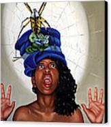 Spider Hat Canvas Print by Shelley Laffal