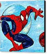 Spiderman Out Of The Blue 2 Canvas Print by Saundra Myles