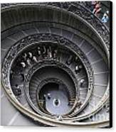 Spiral Staircase By Giuseppe Momo At The Vatican Museum. Rome. Italy Canvas Print by Bernard Jaubert