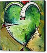 Spirit Of The Heart By Madart Canvas Print by Megan Duncanson