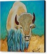 Spirit White Buffalo Canvas Print