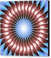 Spiritual Pulsar Kaleidoscope Canvas Print by Derek Gedney