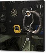 Spitfire Cockpit Canvas Print by Adam Romanowicz
