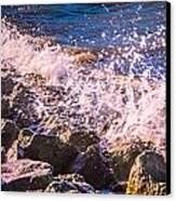 Splashes Canvas Print by Dawn OConnor
