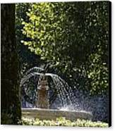 Splashing Water From Fountain Canvas Print