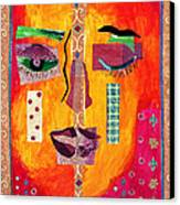Split Personality Canvas Print by Diane Fine