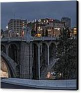 Spokane Cityscape Canvas Print by Michael Gass