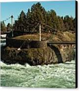 Spokane Falls - Spokane Washington Canvas Print by Beve Brown-Clark Photography