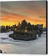 Spokane Sunrise Canvas Print by Michael Gass